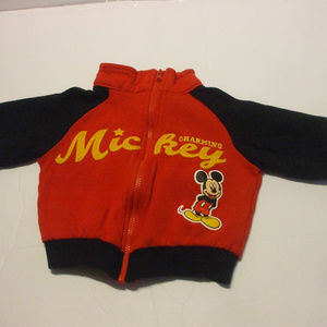 Mickey Mouse Red Long Sleeve Jacket Baby 3-6 Month